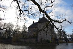Nederlands kasteel Vorden stock foto's