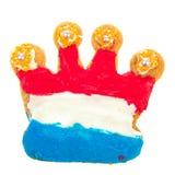 Nederlands koekje in kroonvorm stock afbeelding