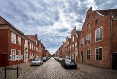 Nederlands Kwart in Potsdam, Brandenburg, Duitsland Royalty-vrije Stock Fotografie