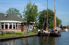 Nederlands landschap Stock Foto