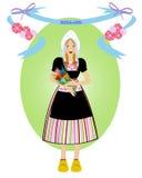 Nederlands meisje vector illustratie