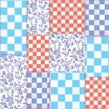 Nederlands naadloos plaidpatroon - delfts blauw vector illustratie