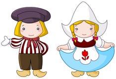 Nederlands paar royalty-vrije illustratie
