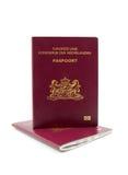 Nederlands paspoort twee Stock Fotografie