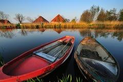 Nederlands rivierlandschap royalty-vrije stock foto's