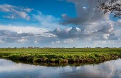 Nederlands rual landschap Stock Foto