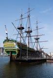 Nederlands schip in NEMO museum Amsterdam Stock Foto's