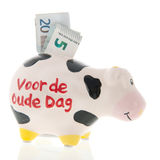 Nederlands spaarvarken Stock Foto's