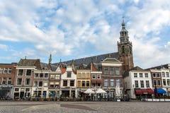 Nederlands Stadsvierkant Royalty-vrije Stock Afbeeldingen