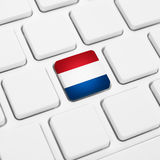 Nederlands taal of het Webconcept van Nederland Nationale vlagknoop Royalty-vrije Stock Fotografie