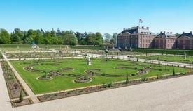 Nederlandse barokke tuin van Loo Palace in Apeldoorn Royalty-vrije Stock Foto's