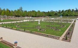 Nederlandse barokke tuin van Loo Palace in Apeldoorn Royalty-vrije Stock Afbeelding