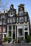 Nederlandse canalhouses stock afbeelding