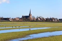 Nederlandse dorpsscène Stock Afbeeldingen