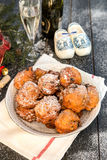 Nederlandse doughnut - Oliebollen Royalty-vrije Stock Foto