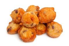 Nederlandse doughnut ook wordt bekend die als oliebollen Royalty-vrije Stock Fotografie