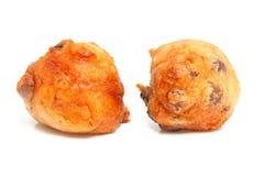 Nederlandse doughnut ook wordt bekend die als oliebollen Stock Afbeeldingen