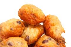 Nederlandse doughnut ook wordt bekend die als oliebollen Royalty-vrije Stock Foto