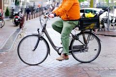 Nederlandse fietser stock foto's