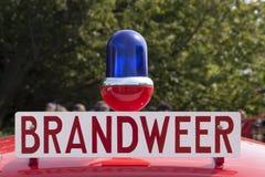 Nederlandse firebrigadeauto royalty-vrije stock foto