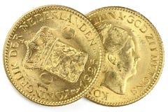 Nederlandse gouden muntstukken Royalty-vrije Stock Foto's