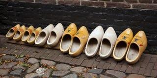 Nederlandse houten belemmeringen in een oogopslag stock fotografie