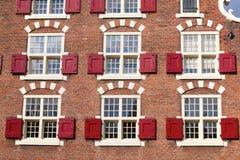 Nederlandse huizen Stock Afbeelding
