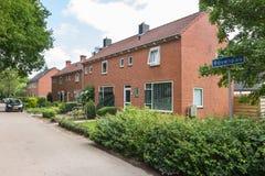 Nederlandse huizen in de stad Royalty-vrije Stock Fotografie