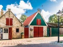 Nederlandse huizen Vlieland, Holland Royalty-vrije Stock Foto's