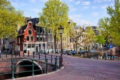 Nederlandse Kanaalhuizen in Amsterdam Royalty-vrije Stock Foto