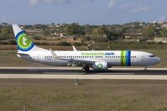 Nederlandse Luchtvaartlijn Transavia 737 Stock Fotografie