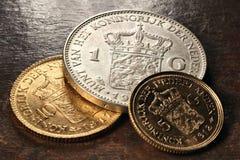 Nederlandse muntstukken Royalty-vrije Stock Foto