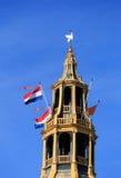 Nederlandse nationale vlaggen Stock Afbeeldingen