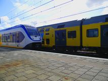 Nederlandse passagierstreinen Royalty-vrije Stock Foto