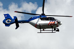 Nederlandse politiehelikopter Stock Foto's