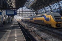 Nederlandse raiway trein Stock Foto