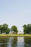Nederlandse rivier Royalty-vrije Stock Foto