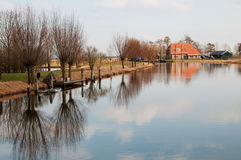 Nederlandse rivier Stock Afbeelding