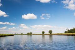 Nederlandse rivier Eem Royalty-vrije Stock Afbeelding