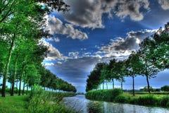 Nederlandse rivier zonder terugkeer Royalty-vrije Stock Afbeeldingen