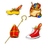 Nederlandse Sinterklaas-voorwerpen Royalty-vrije Stock Afbeelding