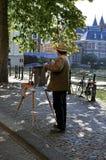 Nederlandse straatkunstenaar royalty-vrije stock foto's