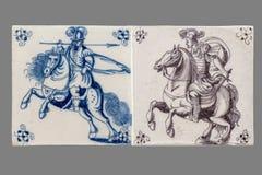 Nederlandse tegel van zestiende aan de 18de eeuw royalty-vrije stock fotografie