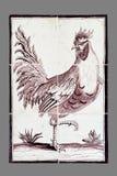 Nederlandse tegel van zestiende aan de 18de eeuw royalty-vrije stock foto's