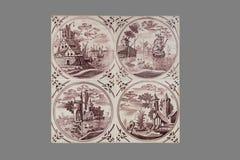 Nederlandse tegel van zestiende aan de 18de eeuw royalty-vrije stock afbeeldingen