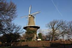Nederlandse torenmolen Leiden Stock Afbeeldingen