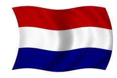 Nederlandse vlag Stock Afbeelding