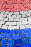 Nederlandse Vlagstraat Als achtergrond Stock Afbeelding