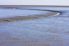 Nederlandse Waddenzee dichtbij Moddergat in Friesland stock afbeeldingen