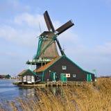 Nederlandse Windmolen Stock Foto's